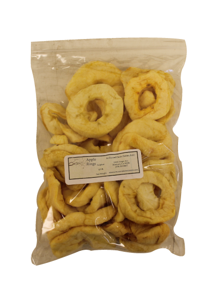 Dried Apple Rings Half Pound