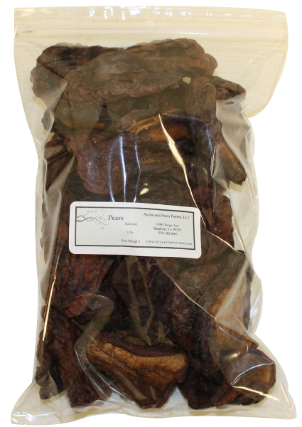 Dried Pears Natural One Pound
