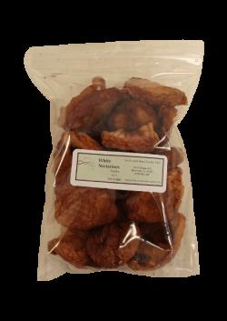 Dried White Nectarines Sulphur Half Pound
